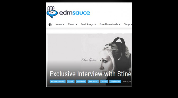 Stine Grove interview by EDM Sauce